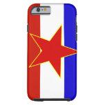 Bandera de Yugoslavia Funda De iPhone 6 Tough