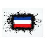 Bandera de Yugoslavia Invitación 12,7 X 17,8 Cm