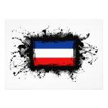 Bandera de Yugoslavia Invitacion Personal