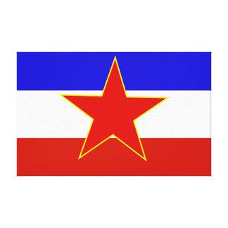 Bandera de Yugoslavia Impresión En Lona Estirada