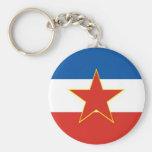 bandera de Yugoslavia Llaveros Personalizados