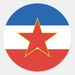 bandera de Yugoslavia Pegatinas Redondas