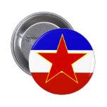 Bandera de Yugoslavia Pin Redondo 5 Cm