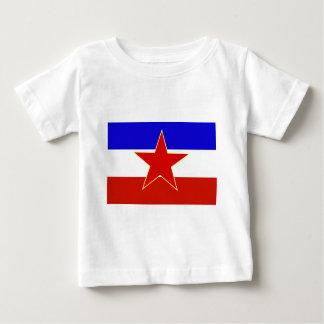 Bandera de Yugoslavia Playera Para Bebé