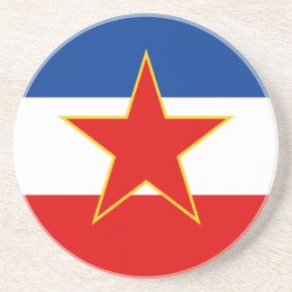 Bandera de Yugoslavia Posavaso Para Bebida