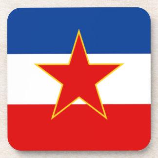 Bandera de Yugoslavia Posavasos De Bebida