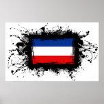 Bandera de Yugoslavia Poster