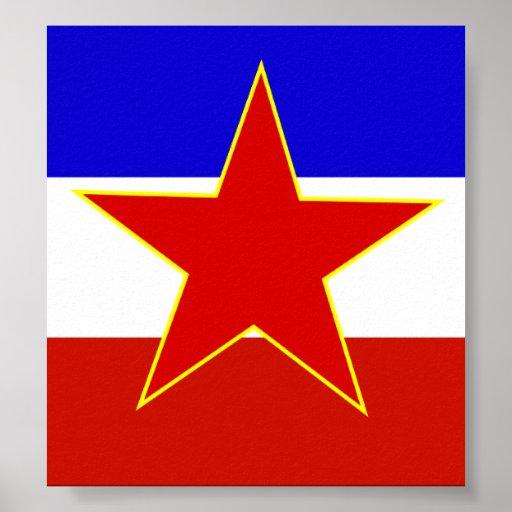 Bandera de Yugoslavia Póster