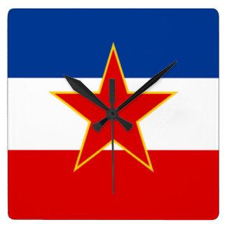 Bandera de Yugoslavia Reloj