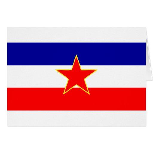 BANDERA DE YUGOSLAVIA FELICITACION