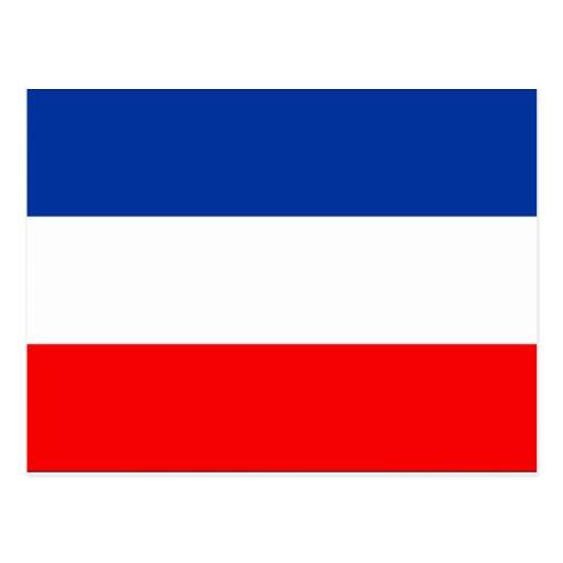Bandera de Yugoslavia Tarjeta Postal