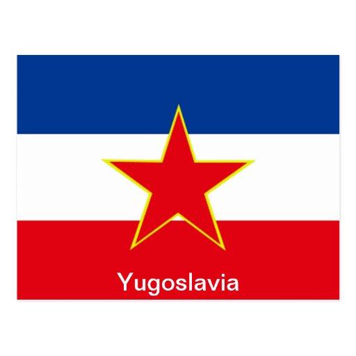 Bandera de Yugoslavia Tarjetas Postales