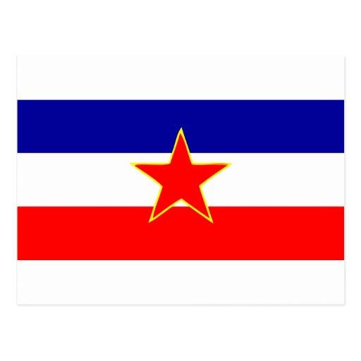 BANDERA DE YUGOSLAVIA POSTAL