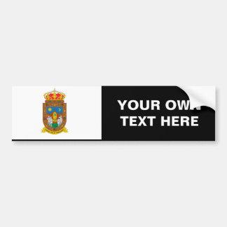 Bandera de Zacatecas Pegatina Para Auto