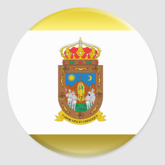 Bandera de Zacatecas Pegatina Redonda