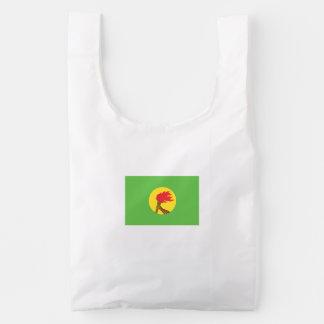 Bandera de Zaire Bolsa Reutilizable