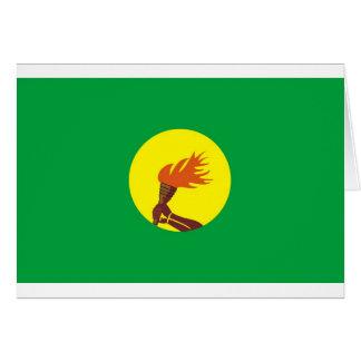 Bandera de Zaire-Congo Tarjeta De Felicitación