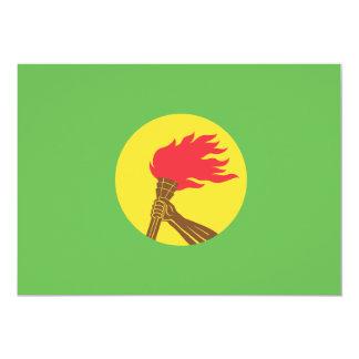 """Bandera de Zaire Invitación 5"""" X 7"""""""
