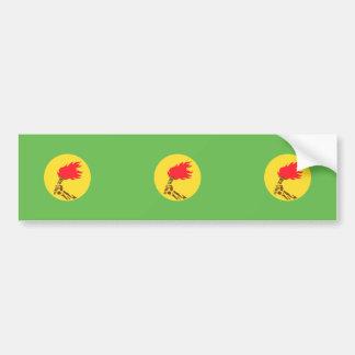 Bandera de Zaire, República Democrática del Congo Pegatina De Parachoque
