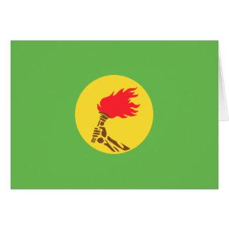 Bandera de Zaire, República Democrática del Congo Tarjeta De Felicitación