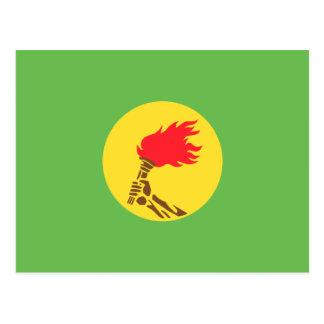 Bandera de Zaire, República Democrática del Congo Tarjeta Postal