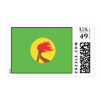 Bandera de Zaire Franqueo