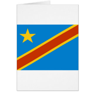 Bandera de Zaire Tarjeta De Felicitación