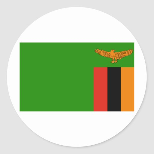 Bandera de Zambia Etiqueta