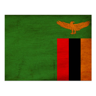 Bandera de Zambia Tarjetas Postales