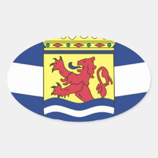 Bandera de Zelanda Pegatina Ovalada