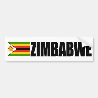 Bandera de Zimbabwe Etiqueta De Parachoque
