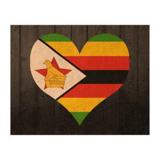 Bandera de Zimbabwe coloreada Papel De Corcho Para Fotos