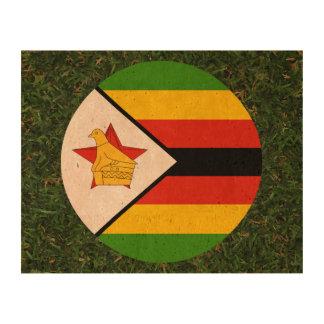 Bandera de Zimbabwe en hierba Impresión En Corcho