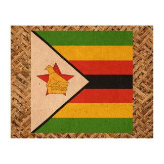 Bandera de Zimbabwe en la materia textil temática Impresiones En Corcho