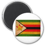 Bandera de Zimbabwe Imanes De Nevera