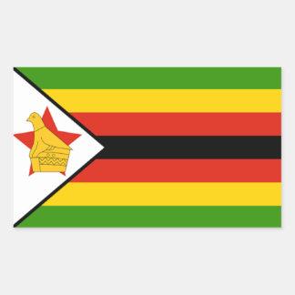 Bandera de Zimbabwe Rectangular Pegatina