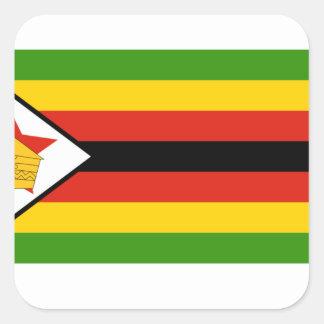 Bandera de Zimbabwe Pegatina Cuadrada