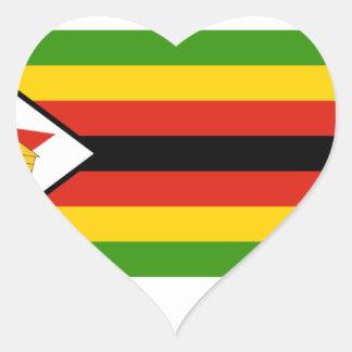 Bandera de Zimbabwe Pegatina En Forma De Corazón