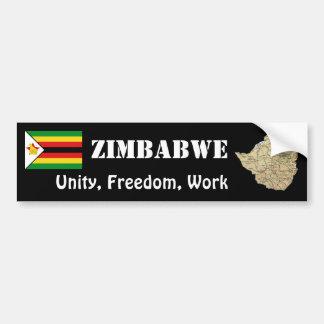 Bandera de Zimbabwe + Pegatina para el parachoques Pegatina Para Auto