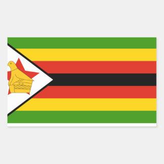Bandera de Zimbabwe Pegatina Rectangular
