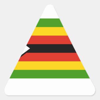 Bandera de Zimbabwe Pegatina Triangular
