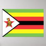 Bandera de Zimbabwe Póster