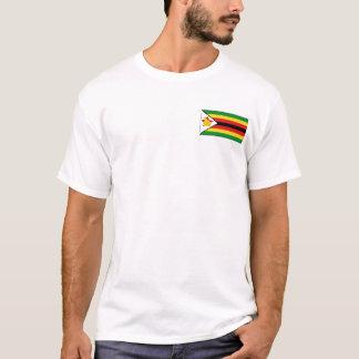 Bandera de Zimbabwe y camiseta del mapa