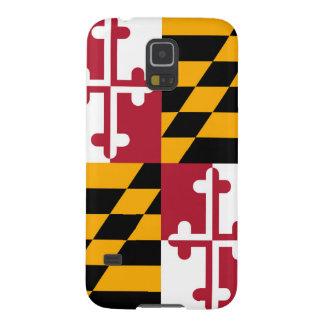 Bandera decorativa del estado de Maryland Fundas De Galaxy S5