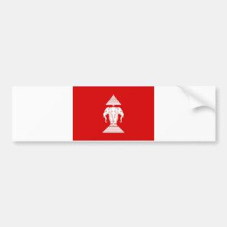 Bandera del ທຸງຊາດລາວ de Laos (1952-1975) - Pegatina Para Auto