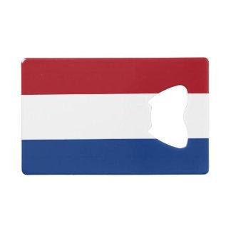 Bandera del abrebotellas holandés de la tarjeta de