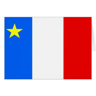 Bandera del Acadia de Canadá Tarjeta De Felicitación