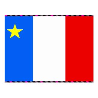 Bandera del Acadia de Canadá Postal