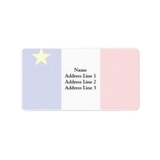 Bandera del Acadia Etiquetas De Dirección