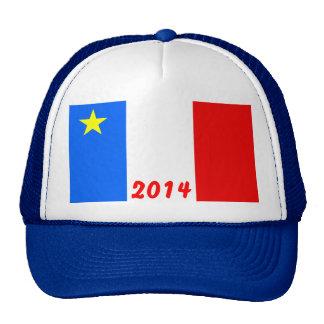 Bandera del Acadia Gorro
